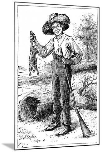Huckleberry Finn, 1884- Chatto & Windus-Mounted Giclee Print