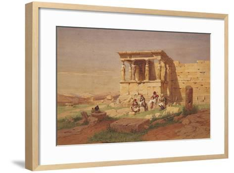 The Erechtheion, the Porch of the Caryatids, 1877-Carl Friedrich Heinrich Werner-Framed Art Print