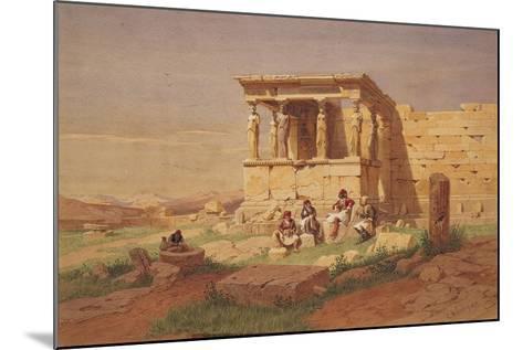 The Erechtheion, the Porch of the Caryatids, 1877-Carl Friedrich Heinrich Werner-Mounted Giclee Print