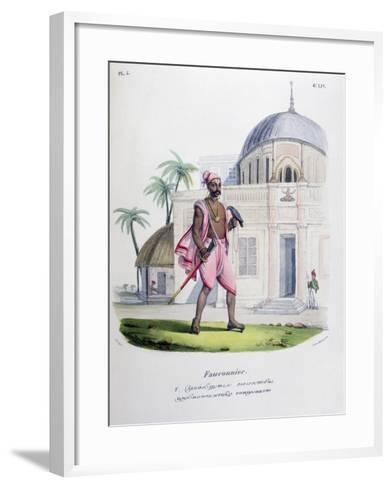 Falconer, 1828- Marlet et Cie-Framed Art Print