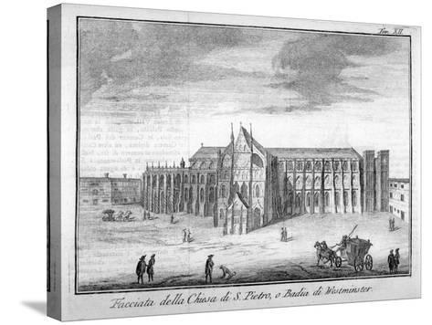 Westminster Abbey, London, 1742--Stretched Canvas Print