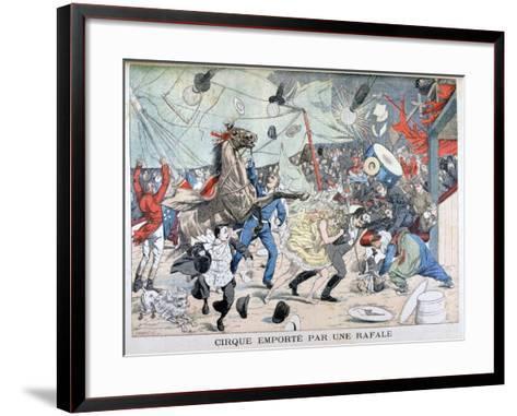 Circus Tent Blown Away, Saint Etienne, France, 1903--Framed Art Print