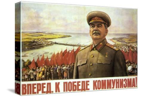 Forward to the Victory of Communism!, 1952-Leonid Fyodorovich Golovanov-Stretched Canvas Print
