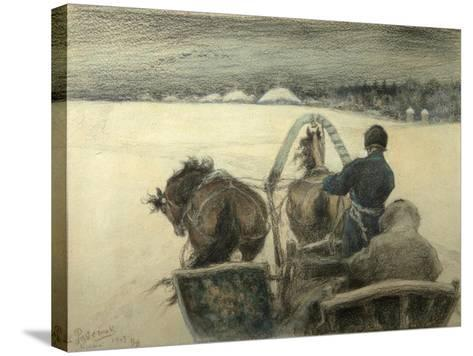On the Road to Yasnaya Polyana, 1903-Leonid Osipovich Pasternak-Stretched Canvas Print