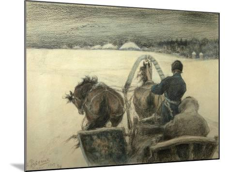 On the Road to Yasnaya Polyana, 1903-Leonid Osipovich Pasternak-Mounted Giclee Print