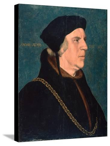 Portrait of Sir William Butts, 1543-Hans Holbein the Younger-Stretched Canvas Print