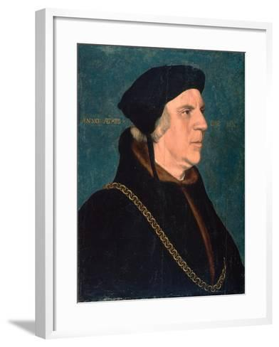 Portrait of Sir William Butts, 1543-Hans Holbein the Younger-Framed Art Print