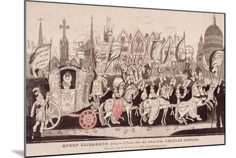 Queen Elizabeth I Travelling by Coach to St Paul's after the Defeat of the Spanish Armada, C1840--Mounted Giclee Print