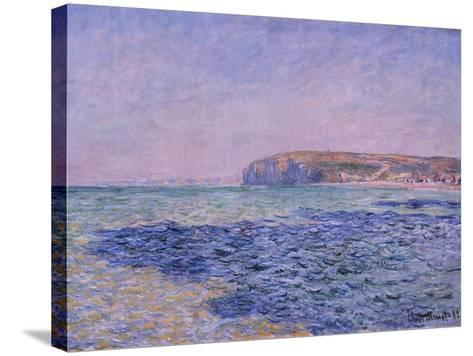 Shadows on the Sea, the Cliffs at Pourville, 1882-Claude Monet-Stretched Canvas Print
