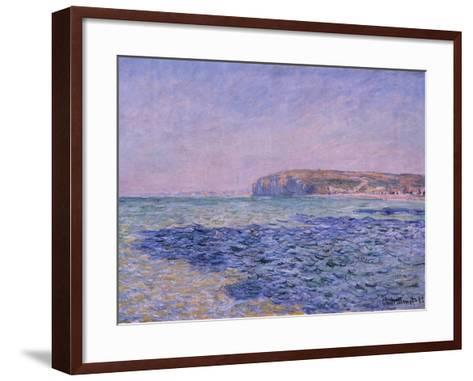 Shadows on the Sea, the Cliffs at Pourville, 1882-Claude Monet-Framed Art Print