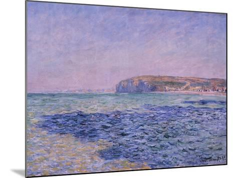 Shadows on the Sea, the Cliffs at Pourville, 1882-Claude Monet-Mounted Giclee Print