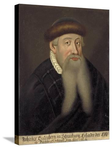 Portrait of Johannes Gutenberg, Early 17th C--Stretched Canvas Print