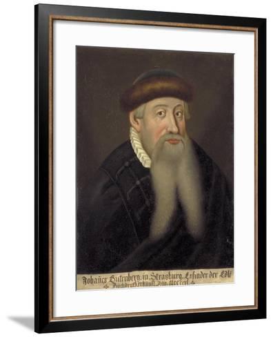Portrait of Johannes Gutenberg, Early 17th C--Framed Art Print