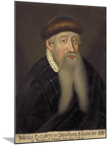 Portrait of Johannes Gutenberg, Early 17th C--Mounted Giclee Print