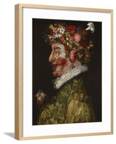 Spring (La Primaver)-Giuseppe Arcimboldo-Framed Art Print