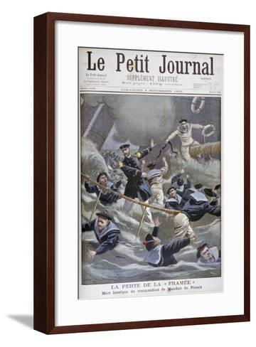 The Loss of the French Destroyer Framee, 1900--Framed Art Print
