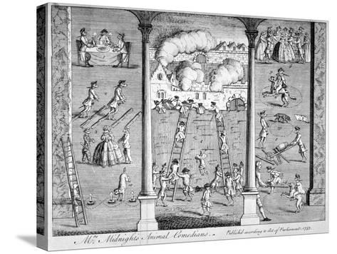 Mrs Midnight's Animal Comedians, 1753--Stretched Canvas Print