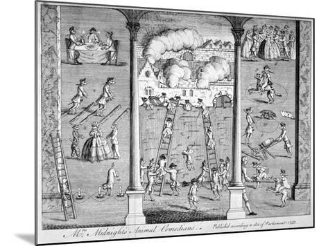 Mrs Midnight's Animal Comedians, 1753--Mounted Giclee Print