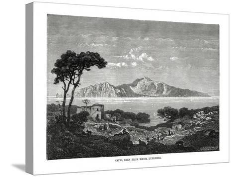 Capri Seen from Massa Lubrense, Italy, 1879--Stretched Canvas Print