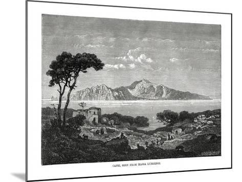 Capri Seen from Massa Lubrense, Italy, 1879--Mounted Giclee Print