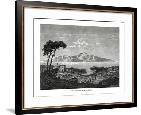 Capri Seen from Massa Lubrense, Italy, 1879--Framed Art Print