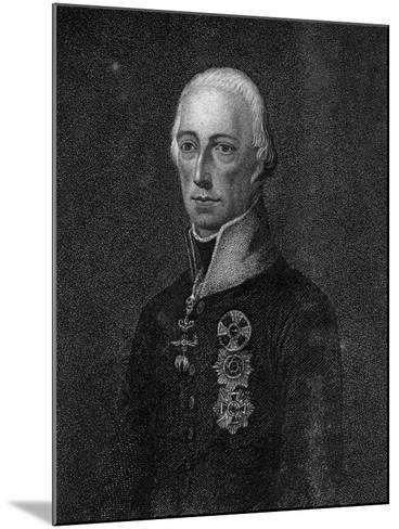 Francis II, Holy Roman Emperor, 1814--Mounted Giclee Print