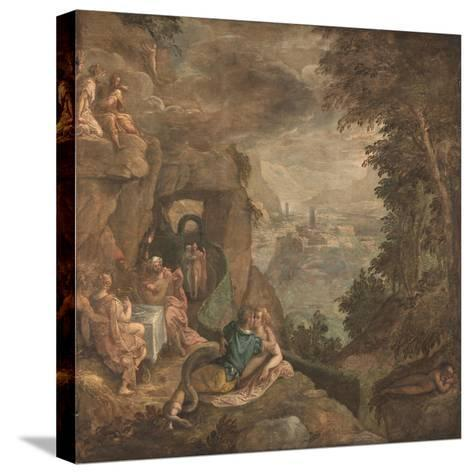 Landscape with a Scene of Enchantment, Ca 1590-Paolo Fiammingo-Stretched Canvas Print