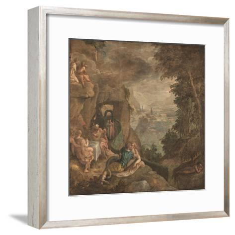 Landscape with a Scene of Enchantment, Ca 1590-Paolo Fiammingo-Framed Art Print