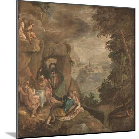 Landscape with a Scene of Enchantment, Ca 1590-Paolo Fiammingo-Mounted Giclee Print