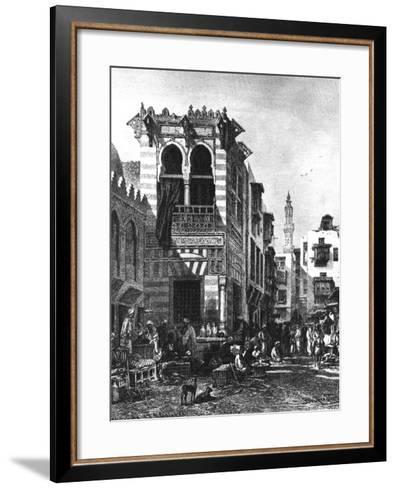 Popular Schools in the Heart of Cairo, Egypt, 1880--Framed Art Print