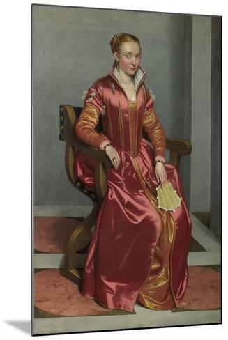 Portrait of a Lady (La Dama in Ross), C. 1560-Giovan Battista Moroni-Mounted Giclee Print