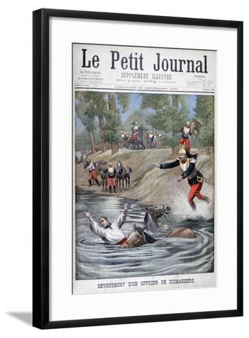 Self-Sacrifice of a French Cuirassier, 1900--Framed Art Print