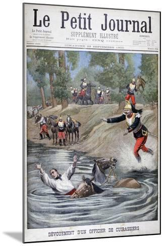 Self-Sacrifice of a French Cuirassier, 1900--Mounted Giclee Print