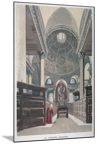 Interior Looking East, Church of St Stephen Walbrook, City of London, 1845--Mounted Giclee Print