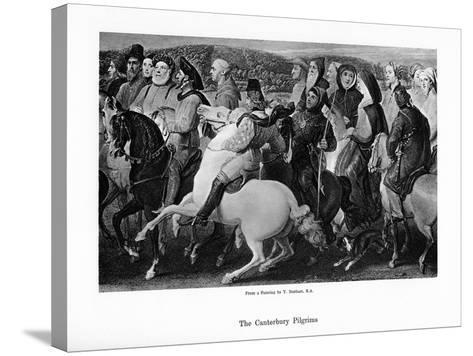 The Canterbury Pilgrims, 19th Century-Thomas Stothard-Stretched Canvas Print