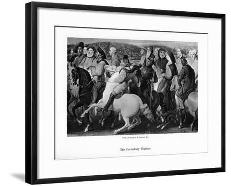The Canterbury Pilgrims, 19th Century-Thomas Stothard-Framed Art Print