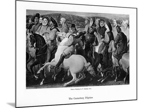 The Canterbury Pilgrims, 19th Century-Thomas Stothard-Mounted Giclee Print
