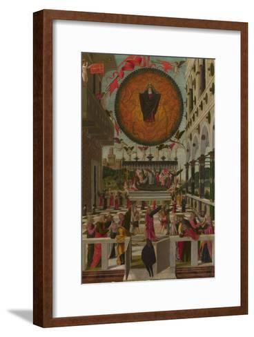 The Dormition and Assumption of the Virgin, 1488-Gerolamo  da Vicenza-Framed Art Print