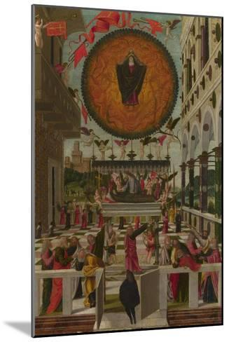 The Dormition and Assumption of the Virgin, 1488-Gerolamo  da Vicenza-Mounted Giclee Print