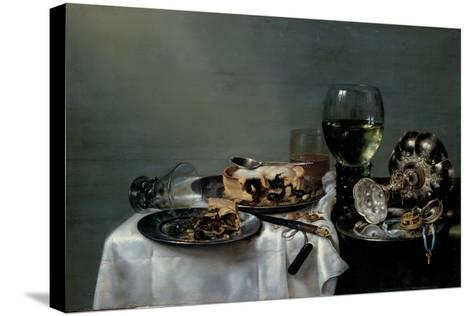 Breakfast Table with Blackberry Pie, 1631-Willem Claesz Heda-Stretched Canvas Print