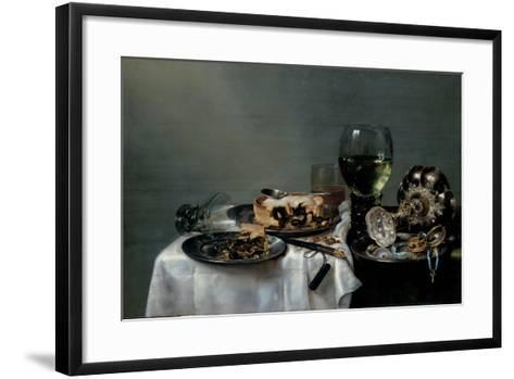 Breakfast Table with Blackberry Pie, 1631-Willem Claesz Heda-Framed Art Print
