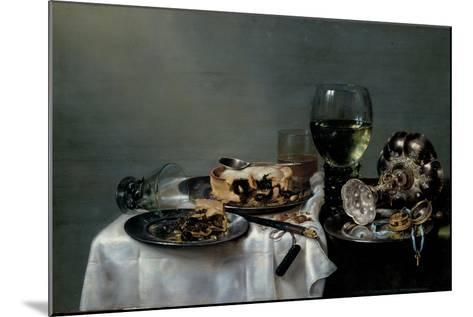 Breakfast Table with Blackberry Pie, 1631-Willem Claesz Heda-Mounted Giclee Print