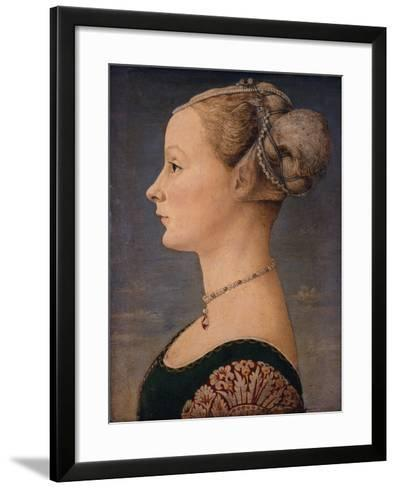 Portrait of a Woman, Second Half of the 15th C-Piero del Pollaiuolo-Framed Art Print