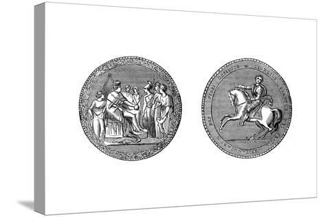 The Great Seal of King George IV, C1895--Stretched Canvas Print