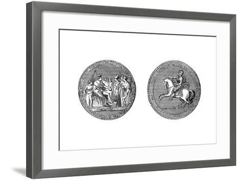 The Great Seal of King George IV, C1895--Framed Art Print