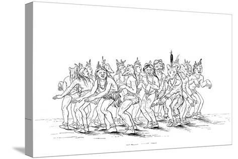 The Sioux Tribe Performing a Bear Dance, 1841-Myers and Co-Stretched Canvas Print