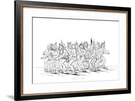 The Sioux Tribe Performing a Bear Dance, 1841-Myers and Co-Framed Art Print