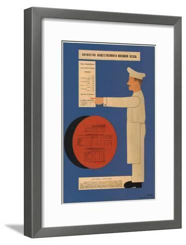 The Five-Year Plan of Public Catering, 1931-Dmitry Anatolyevich Bulanov-Framed Art Print