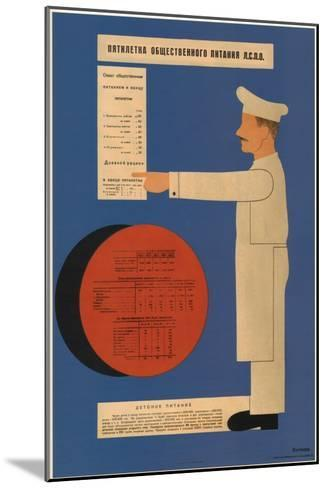 The Five-Year Plan of Public Catering, 1931-Dmitry Anatolyevich Bulanov-Mounted Giclee Print