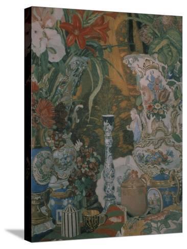 Still Life. Flowers and Porcelain, 1912-Alexander Yakovlevich Golovin-Stretched Canvas Print